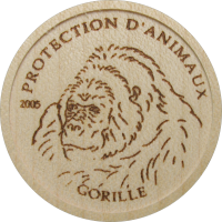 Wood coin – Gorilla