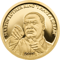 Martin Luther King – Gold 13.92mm