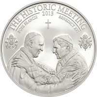 The Historic Meeting – Two Popes silver