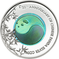 30th Anniversary of Chinese Panda Silver coin