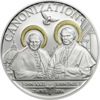 Canonization of the Popes – handmade leaf gilding
