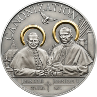 Canonization of the Popes – gilded antique finish
