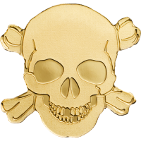 Golden Pirate Skull