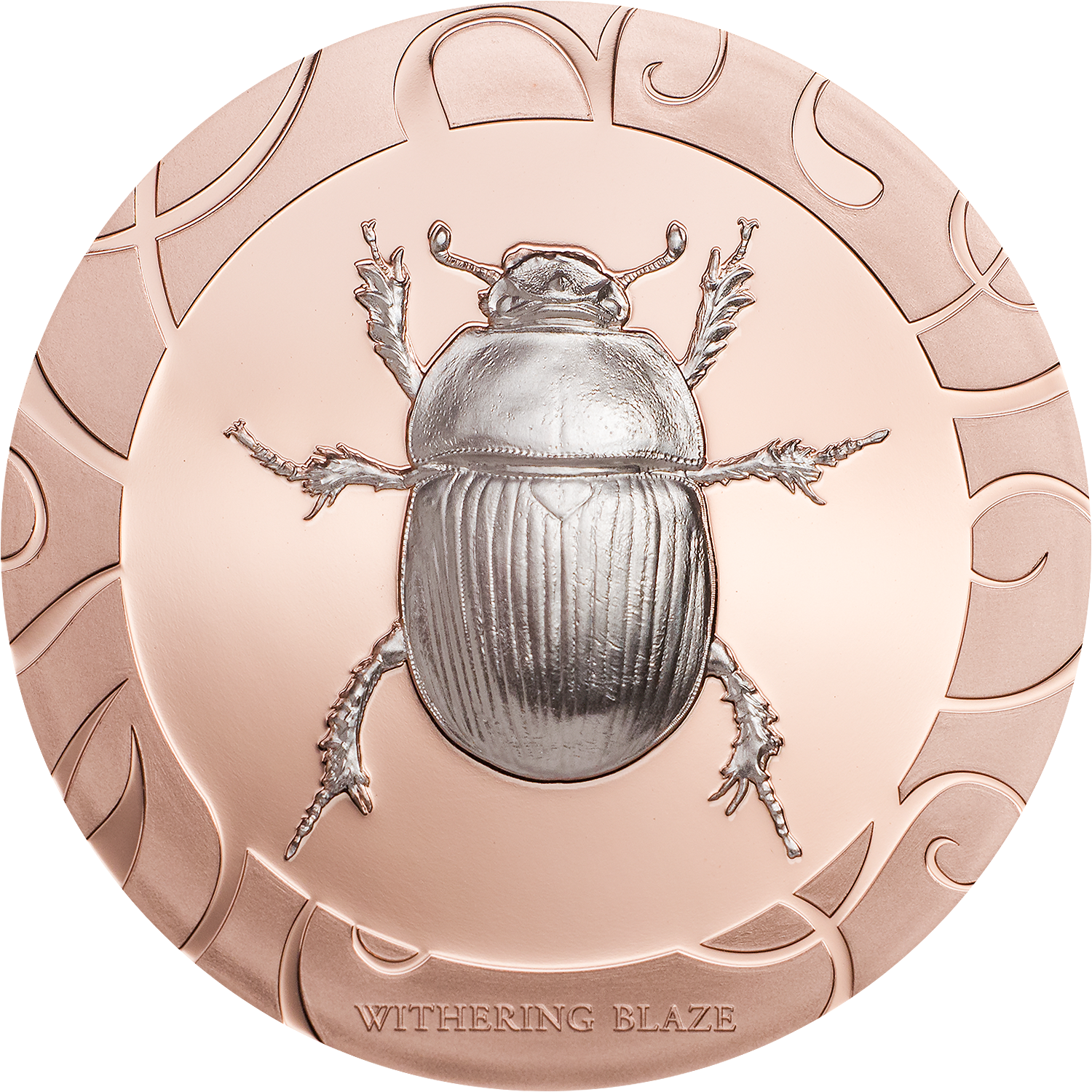 smartminting scarab selection coin withering blaze with high relief rose gold CIT and smartminting technology