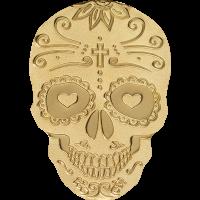 Golden Catrina Skull