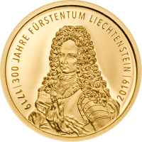 300 Years Liechtenstein 10.- (Au)