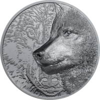 Mystic Wolf 2 oz Silver Black Proof